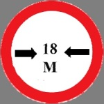 Closed to vehicle of a total width exceeding that indicated in  meters on the sign
