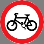Closed to bicycles