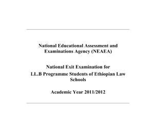 exit exam – Ethiopian Legal Brief